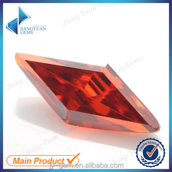rhombus shape colorized sythetic imitation diamond for bangles