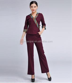 Fashion design wholesale price spa beauty salon uniform for Baju uniform spa