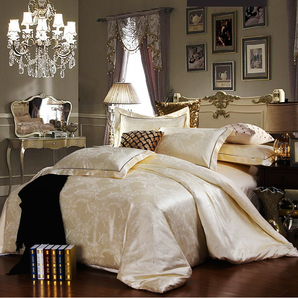Discount Luxury Tribute Silk Satin Jacquard Bedclothes