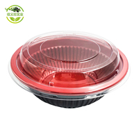 Chinese Restaurant Custom Microwave Round 450ml 650ml Plastic bowl Heat Resistant