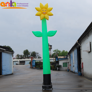 Beautiful inflatable flowers / inflatable sunflower air dancer for display