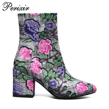Sexy Ladies Snow Warm Women Winter stilettor Shoes Chunky High Heel Ankle Boots