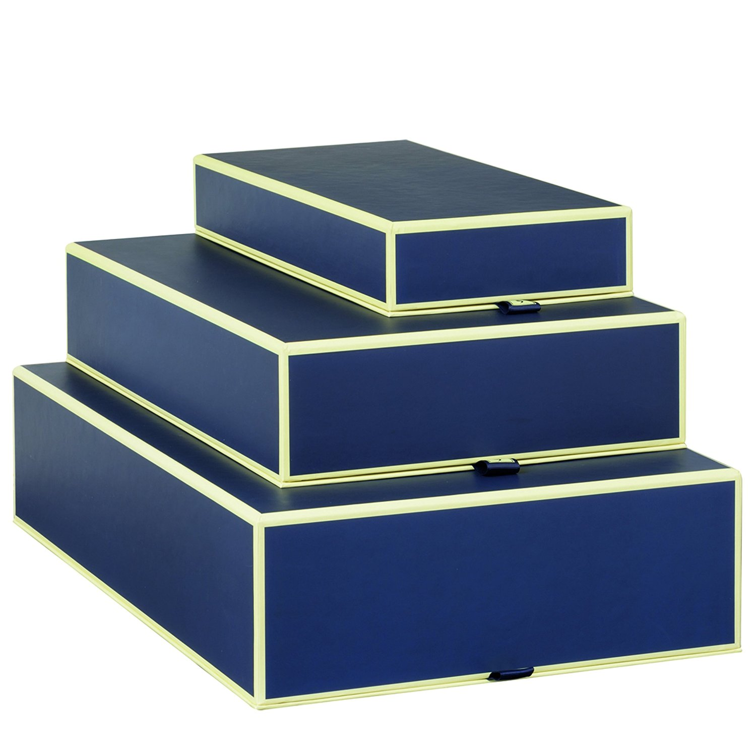 Set of 3 rectangular boxes marine +++ STORAGE- or GIFT BOXES +++ Quality made by Semikolon