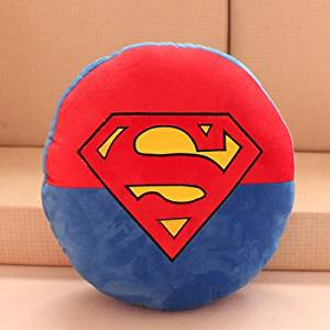 d48182d62380 Get Quotations · Anime Superman Shield pillow personalized plush mat  cartoon soft plush pillow cute plush toys