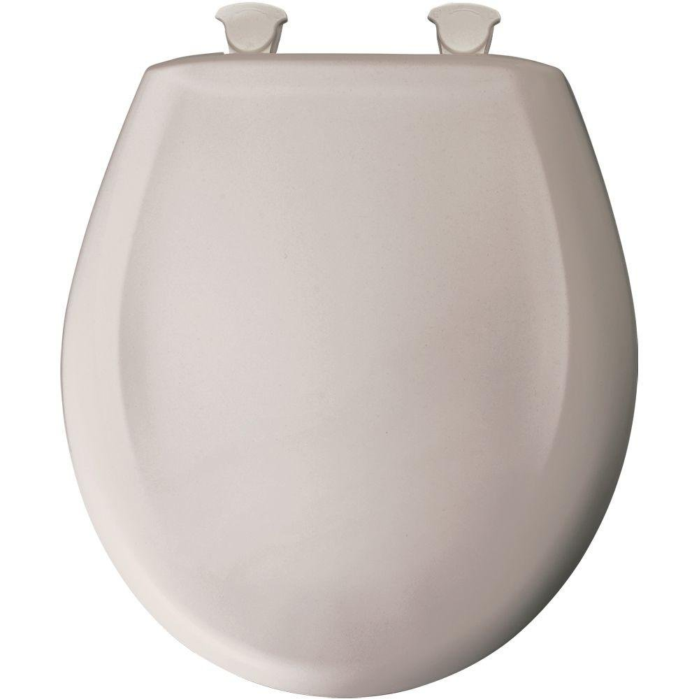 Bemis 7B200SLOWT 463 Round Closed Front Plastic Toilet Seat with Cover, Heather