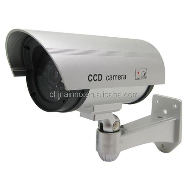 Dummy Security <strong>Camera</strong>, Fake Cameras CCTV Surveillance System with Realistic Simulated LEDs for Home Security Outdoor/Indoor Use