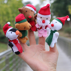 new mini Christmas toy animal finger puppets parent-child early education toys