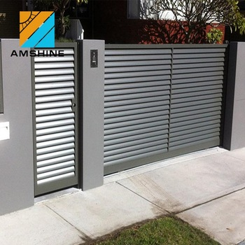 Aluminum Motorized Louver Designs Sheet Metal Garden Fence