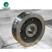 China made motorized transporter wheel for double flange casting crane