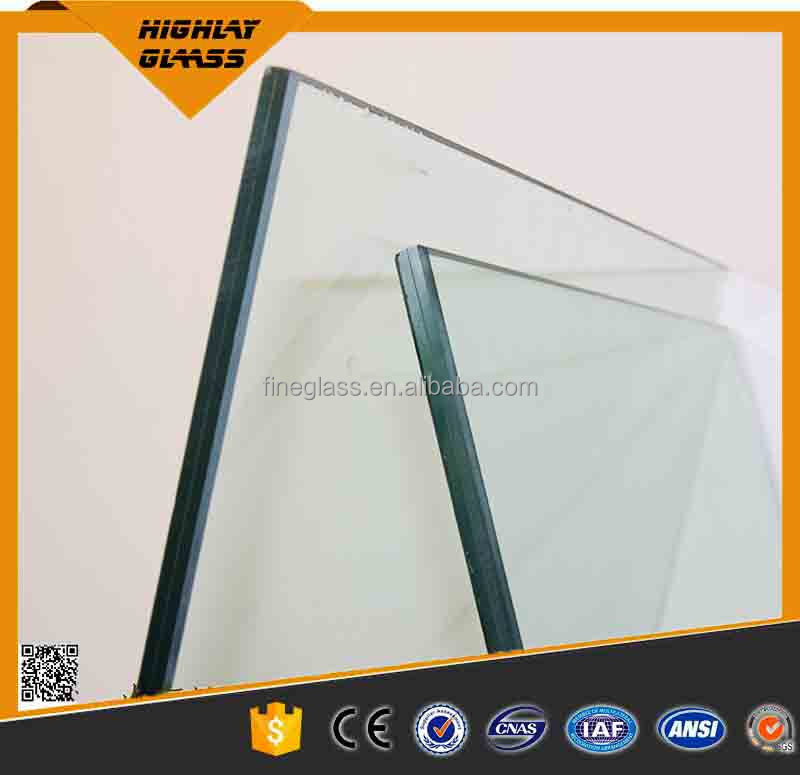 Clear Laminated Glass 4.38~18.76mm For Building Construction