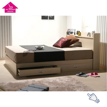 Modern King Size Mdf Wooden Double Bed Box With Drawers Buy Bed