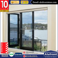 Hurricane-resistant double glazed tempered glass aluminium bi-folding windows and doors
