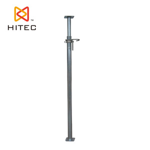 Zinc plated scaffolding metal prop jack in prop system to support