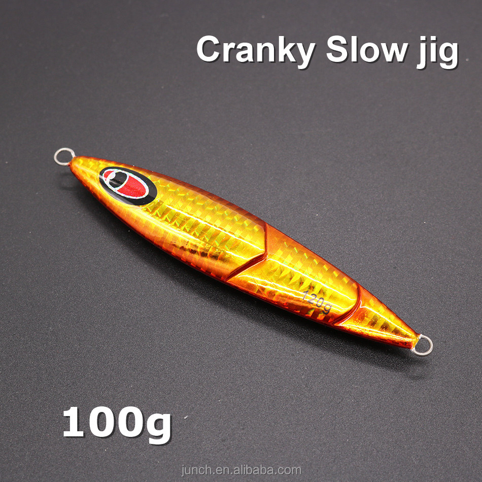 New fishing lures 50pcs/lot 100g Japanese Cranky slow Jig Saltwater Hard Lead fish Slow fall jigs, Customized
