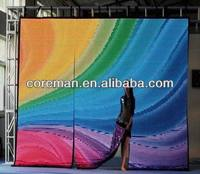 led dj background screen curtain indoor p5 / p6 foldable led screens / pixel pitch 9.25 Flexible led video display