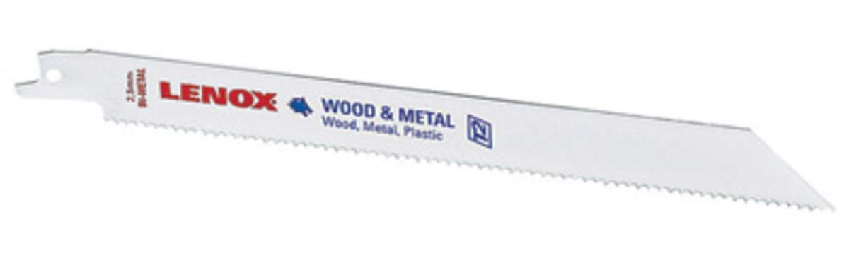 "9"" X 3/4"" X .050"" Lenox Universal Style Bi-Metal Reciprocating Saw Blade With 6 Tuff Tooth Teeth Per Inch (1 Per Pack)"