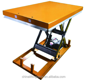 HW 4001 China supplier new design electric stationary lift table , hydraulic scissor lifter