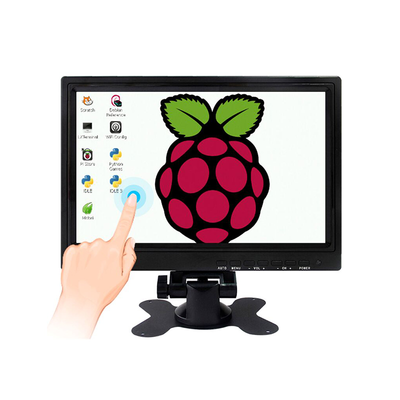 Professional Manufacturer 10.1 inch USB Powered Capacitive Touch Screen Monitor  Raspberry Pi