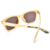 Nature bamboo sunglasses with shell pattern eyewear with custom logo