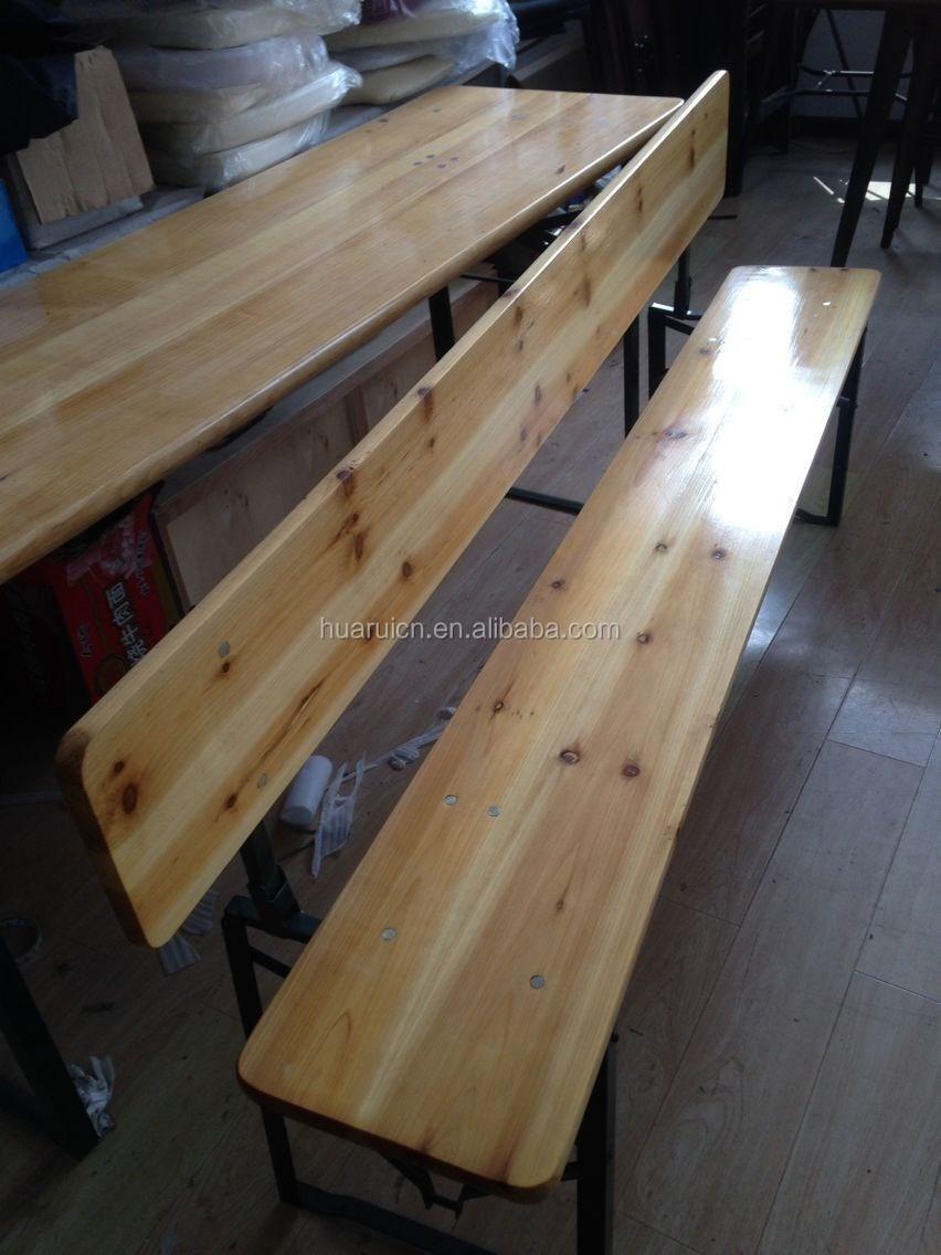Madera de pino cerveza al aire libre muebles de mesa y sillas-Mesas ...