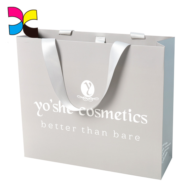 Wholesale custom high quality logo convenient ladies paper hand bag printing