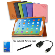 "4in1 protective Leather Case +OTG+ Screen Protector+touch pen For Cube I6 Air 3G 9.7"" Tablet PC dormancy"