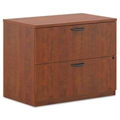 ** BL Laminate Two-Drawer Lateral File, 35-1/2w x 22d x 29h, Medium Cherry **