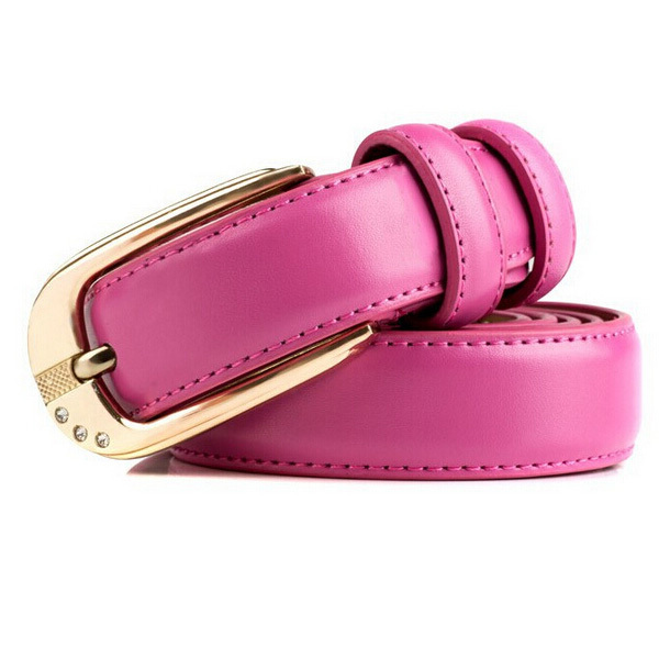 7 Colors Ladies Belt Leather Brand Fashion Women Thin 2015 New Casual Slim Summer Style Simple Buckle cinto feminino EHY357