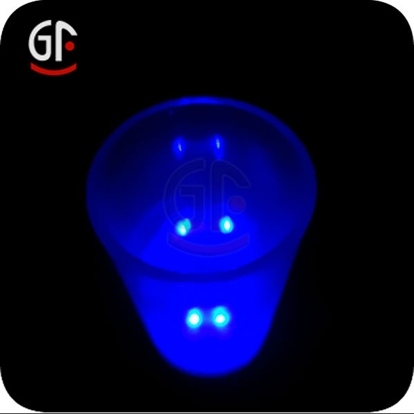 LED Flashing Light Up Dice Shot Glass Cup, Tapping activated with Ticking Sound