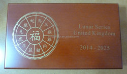 Lunar Series UK Royal Mint Wooden Coin Box for 12 x 1 oz Silver Coins