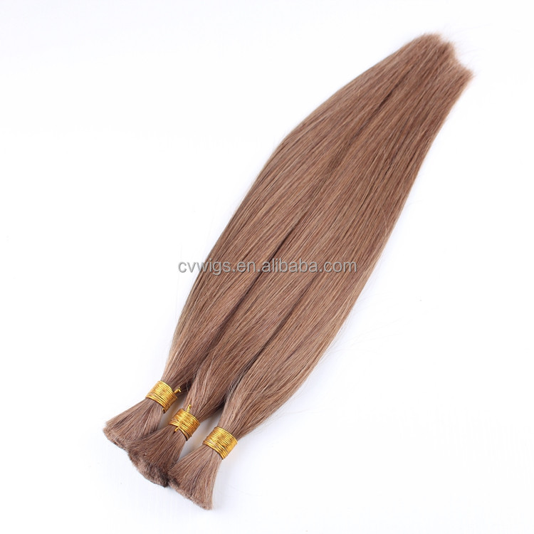 High quality remy 100% real human hair european braiding hair extensions