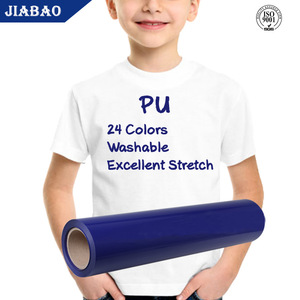Jiabao wholesale t shirt htv textil vinyl rolls heat transfer film for clothing
