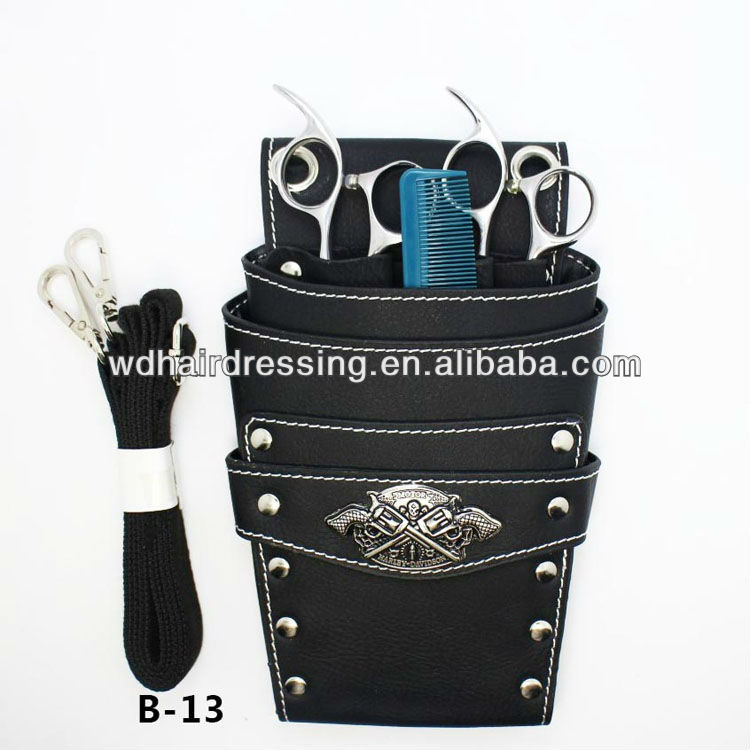 Salon Barber Scissors Bag Clips Tool Hairdressing Holster Pouch with Holder Belt