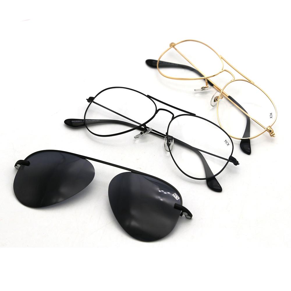 Polarized sun glasses men metal magnetic clip on sunglasses фото