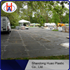 Wear-resistance HDPE plastic floor pads/ground protection mat/temporary plastic road mats