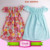 Kids Clothes children cotton frocks frill images designs baby wholesale casual evening tassel fringe trim dress flutter sleeve