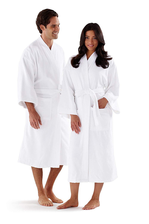 a2a020b35b Get Quotations · Boca Terry Womens Bathrobe - 100% Cotton Hotel Style  Bathrobe in Terry Cloth - Med