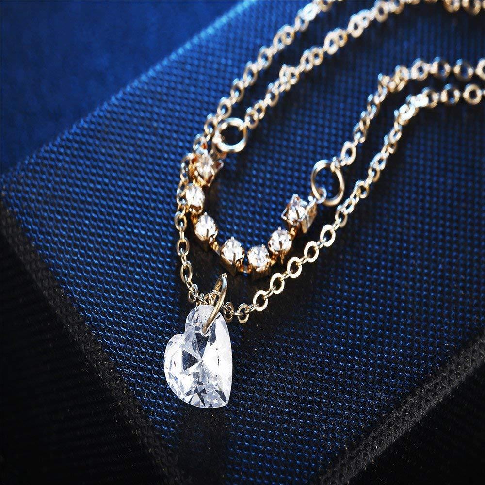 Dressffe Anklet/Wrist Bracelet, Crystal Rhinestones Womens Metal Anklet Ankle Bracelet Chain Gold Silver