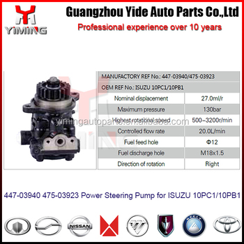 447-03940 475-03923 Power Steering Pump For 10pc1 10pb1