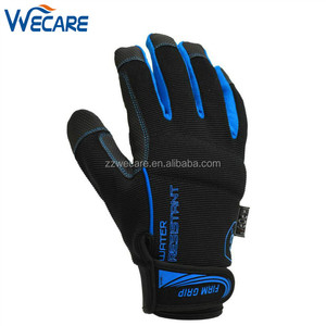Non Slip Water Resistant Synthetic Leather Work Contractor Performance Driving Gloves