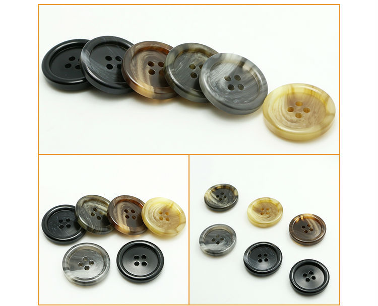 fashion military resin button with anchor design