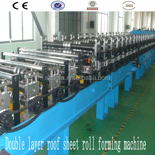guide pillar roof/wall sheet roll forming machine with auto stacker