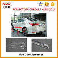 For 2014 Toyota Corolla Abs Chromed Side Door Body 4pcs Body Trims ...