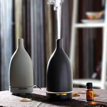 CERAMIC AROMISTER electric aroma diffuser, ultrasonic aroma humidifer, aromatherapy nebulizer w/hand-made ceramic housing GH2182