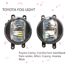 "Newest 4"" round 40W replacement LED fog light white beam lamp for Toyota RAV4 Previa Camry Corolla Yaris PREVIA RAV4 AURION"