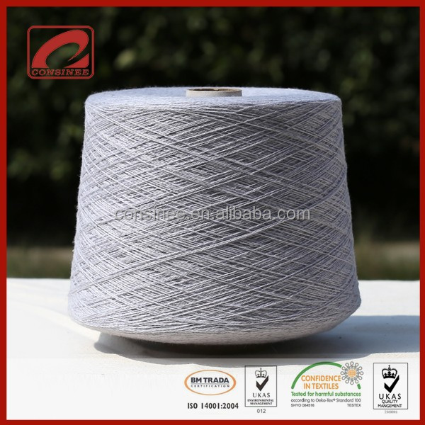 Blended hemp yarn for knitting 16SS clothing eco-friendly hemp products