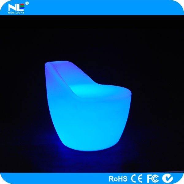 Custom electronic LED glowing luminous lighted backrest chairs / outdoor decorative LED lighting chair