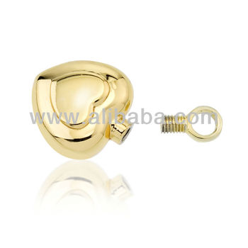 Gold Vermeil Heart Cremation Jewelry Pendant Buy