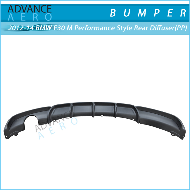 FOR 2012 2013 2014 2015 2016 BMW F30 3-SERIES M-PERFORMANCE STYLE PP POLYPROPYLENE REAR DIFFUSER