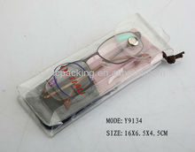 new style euro hook clear eyeglasses travel pouch